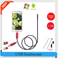 Endoscope 5.5mm Lens 2M 5M 10M USB Endoscope Red/Black 2IN1 Inspection Camera Endoscopio Android OTG Phone Borescope For Android