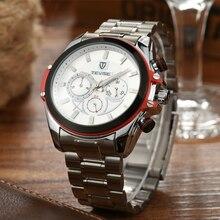 Los Hombres de lujo Marca de Relojes TEVISE Relojes Mecánicos Relojes de Los Hombres Reloj de Acero A Prueba de agua Relojes de Pulsera para Hombres Relogio masculino reloj