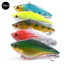 10 Pack Lure Fishing Bait VIB 7CM 16G Vibration Swimming Full Layer Lure Black Fish Mandarin Catfish Sea Bass Lure-Color Random