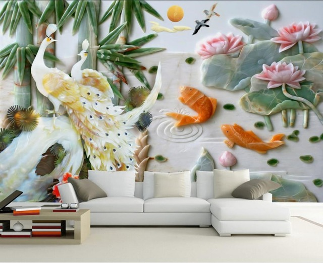 3d flower wallpaper impremedia peacock relief 3d murals wallpaper for living room 3d flower wallpaper stereoscopic 3d wallpaper home decoration voltagebd Image collections