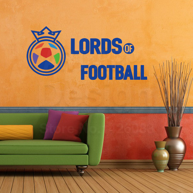 Art Design Cheap Home Decoration Pvc Lord Of Football Wall Sticker Cheap Colorful Vinyl House Decor