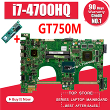 N550jv Laptop Motherboard for ASUS Q550jv Motherboard With  i7 CPU PM send cpu k40ab motherboard for asus laptop motherboard k40ab k40ad k40af k50ab k50ad k50af motherboard test motherboard