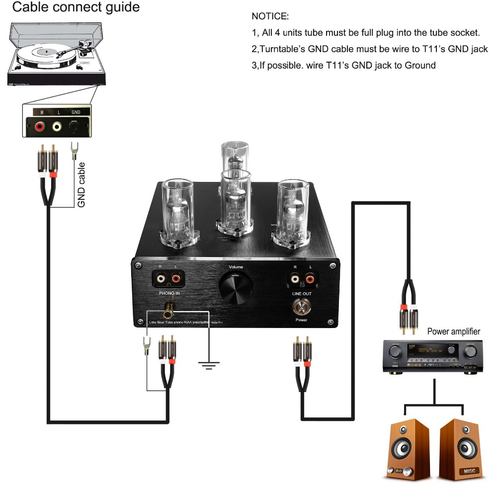 Buy Little Bear T11 Pure Tube Valve Mm Cart Phono Turntable Wiring Diagram Riaa Preamp Preamplifier From Reliable Preamplifiers Suppliers On