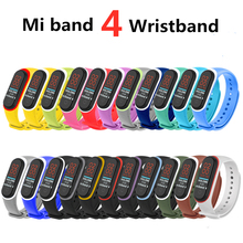 For Xiaomi Mi Band 4 Strap Silicone Wrist Accessories Bracelet Miband Replacement Dual Color Straps