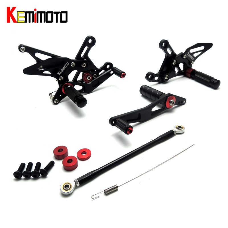 KEMiMOTO YZF R1 CNC Adjustable Rearsets Foot Rest Foot Pegs For YAMAHA YZF-R1 2009 2010 2011 2012 2013 2014 R1--3 Colors раскладушка therm a rest therm a rest luxurylite mesh xl