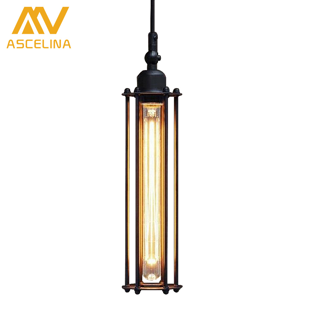 ASCELINA American Country Pendant Lamps industrial creative handing lights suit for restaurant bar Iron single head lampshade ascelina american retro pendant lights industrial creative rustic style hanging lamps pendant lamp bar cafe restaurant iron e27