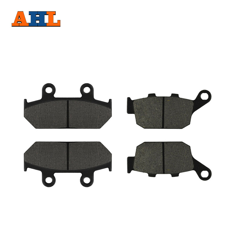 AHL Motorcycle Front and Rear Brake Pads for HONDA XRV 650 XRV650 J / K Africa Twin 1988-1989 Black Brake Disc  Pad motorcycle front and rear brake pads for honda gl1500 gl1500se gl1500l goldwing gl1500 se l 1990 2000 black brake disc pad set