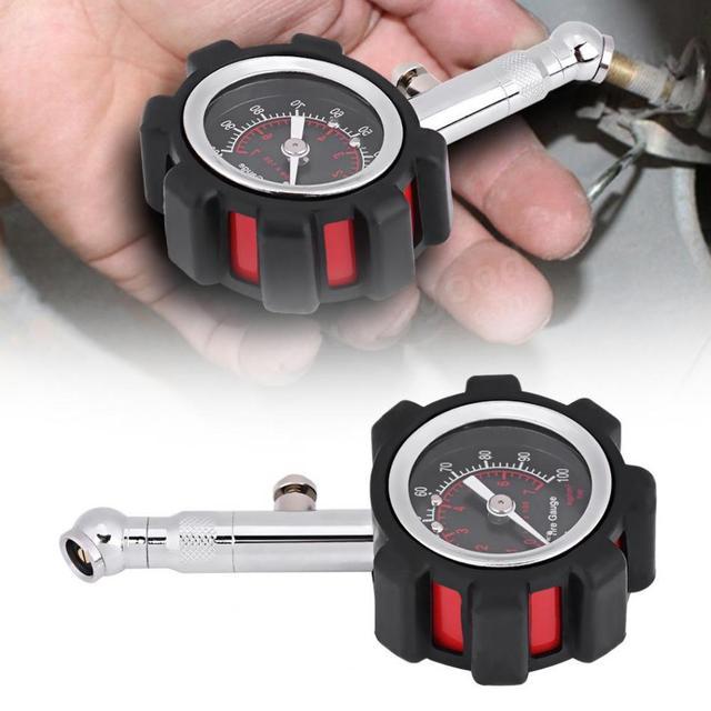 Manómetro Manual del medidor de presión del aire del neumático de la mano herramienta del medidor de diagnóstico 0-100 PSI para la motocicleta del camión del coche bicicleta