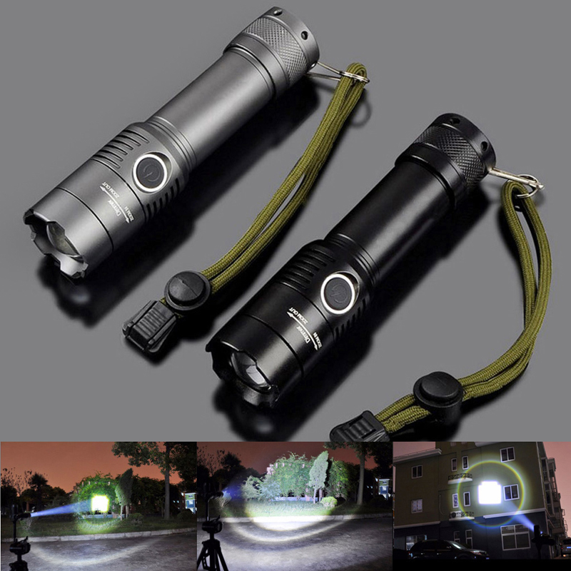 Tactical Police Heavy Duty 2000LM LED Rechargeable Flashlight 18650 / AAA Torch police pl 12921jsb 02m