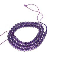 There are AA grade natural amethyst semi finished balls with a size of 9 mm for DIY Bracelet necklace with silver jewelry