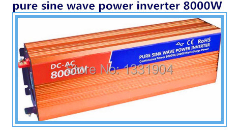купить Free shipping DC24V to AC220V CE RoHs power inverter 8000W pure sine wave power inverters 8KV solar power inverter, car inverter по цене 84229.95 рублей