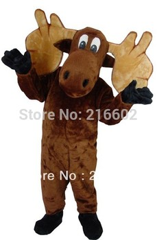 Alta calidad alce mascota adulto disfraz mascota disfraces fiesta de cumpleaños Halloween disfraz adulto
