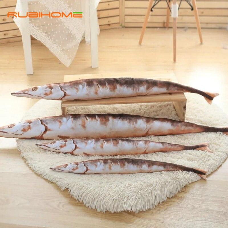 RUBIHOME 3D Design Emulation Tuna Decorative Cushions Throw Pillows for Sofa Home Decor Shop Hotel Used birthday present