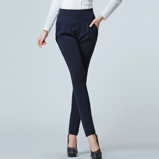 2017 Fashion Women Casual Cargo Pant Classic Women's OL Career Pants Women Trousers Large Size Pants