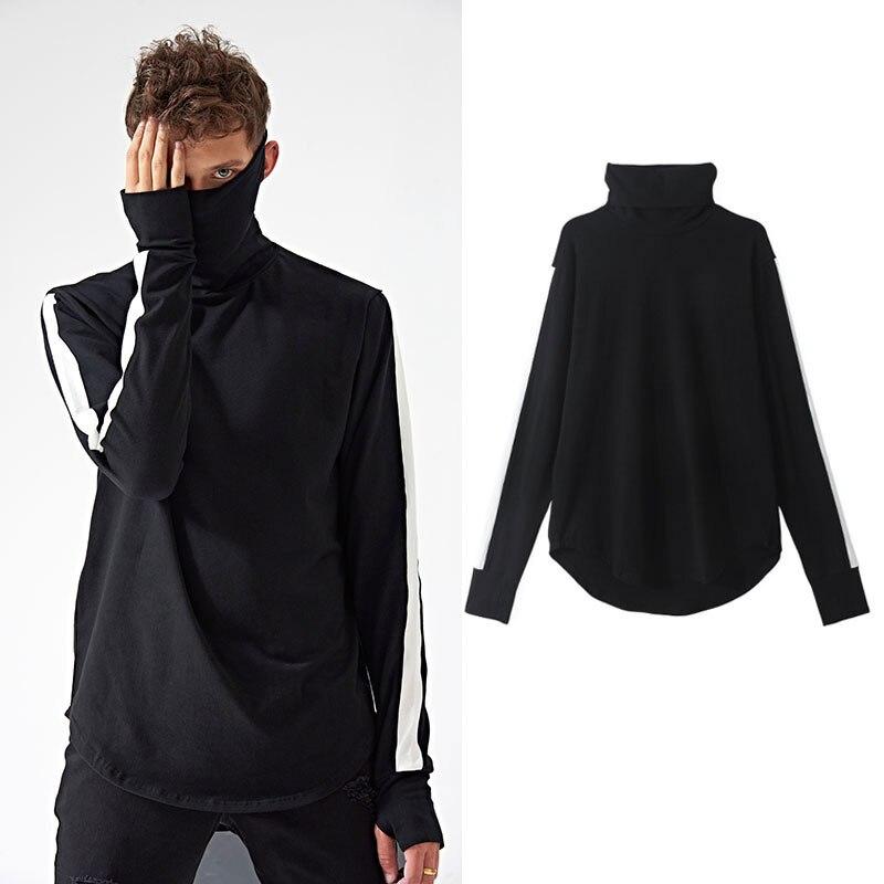 FJUN Extend Vintage T-shirt Fashion T Shirts Men Summer Long Sleeve New design hold hand