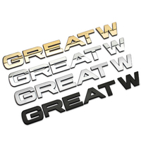 Top Quality GREATWALL Chrome Metal Letters Car Styling Refitting Hood Emblem Logo Sticker For Great Wall
