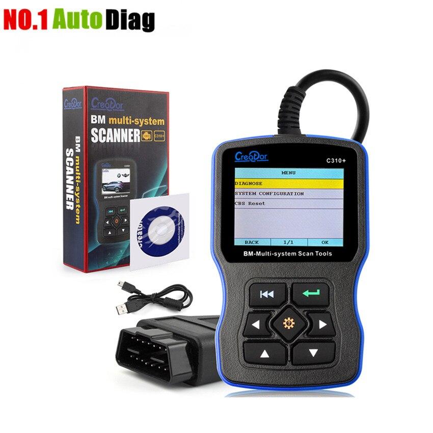 Prix pour Créateur C310 + Pro Pour voiture bmw Véhicule obd diagnostic scanner e46 Z3 E90 E39 E36 F10 x5 x6 z4 X1 EOBD CAN Code Moteur lecteur
