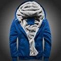 Down & Parkas jaqueta de Algodão 2017 Homens Casacos de Inverno Jaqueta Outwear Patchwork Espessamento Jaqueta Com Capuz Vestuário masculino Casaco BL085