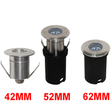 Stainless Steel 1W 3W 42mm 52mm 62mm IP68 LED pool light DC12V CREE Chip Mini Recessed Outdoor deck step stairs Spot
