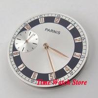 38.3mm white dial golden marks fit eta 6497 movement men's watch watch dial with golden hands(dial+hands) D45