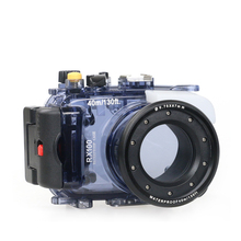 Waterproof Case for Sony RX100 II III IV Photography Underwater 40m Protective Housing Diving Equipment Camera Accessory waterproof case for canon 5d mark iii 3 iv 4 dslr camera housing underwater 40m scuba diving photography protective box cover