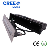 12V 24V rectangle linear 18W IP67 in ground light aluminum LED ground buried light for outdoor step lighting