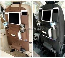 HUANLUSUN Universal 3 color PU Leather Car Seat Back Storage Bag Organizer Travel Box Pocket Stowing Tidying Protector Kids