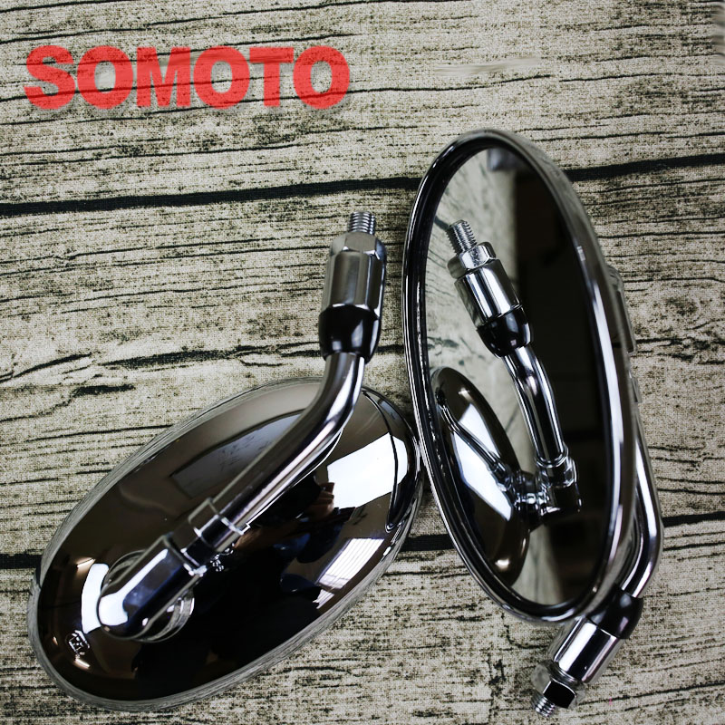 Motorcycle oval Mirrors Rearview mirror ABS plastic bady with electroplate technology