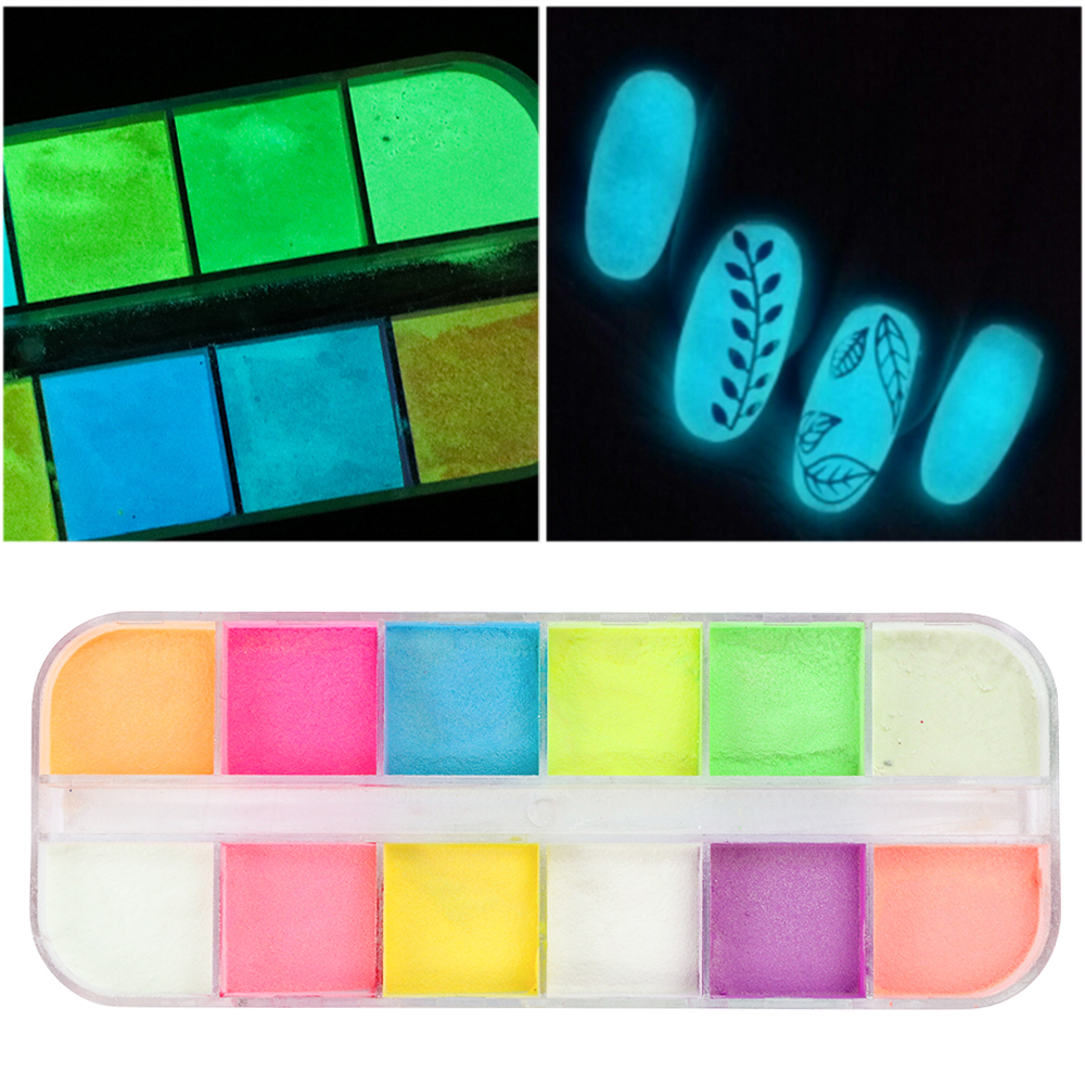 Colorful Neon Fluorescent Powder Nail Glitter Luminous