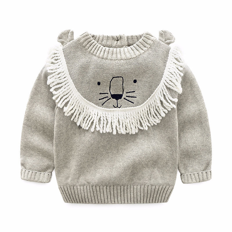 New 2018 Spring Girl Boys Cotton Thread Sweater font b Baby b font Kids O Neck