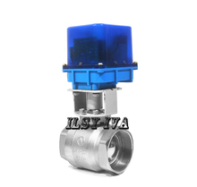 2017 new DN65 AC12V/24V/220V brass two-way  fixed-type electric ball valve