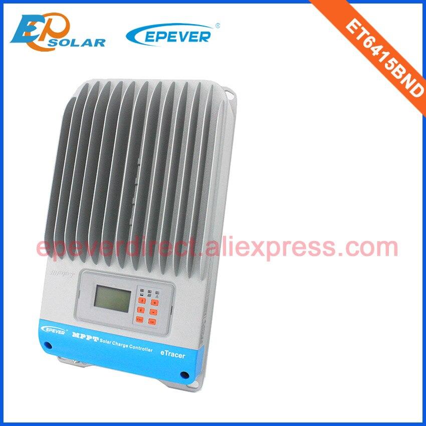 Contrôleur de Charge de batterie de panneaux solaires de régulateur de 60amp 60A ET6415BND pour l'usage à la maison 12 v/24 v/36 v/48 v