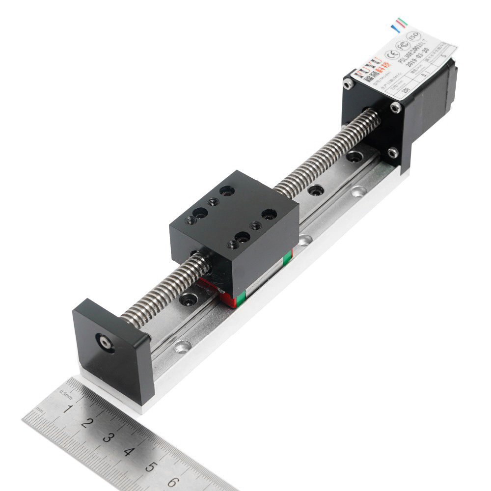 Mini Guide linéaire glissière Rail CNC petit actionneur de scène vis plomb système de Table de mouvement Nema 11 Robot partie Motorzied moteur pas à pas - 4