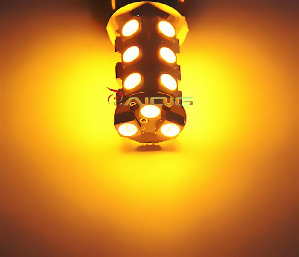 1156 BA15S 18 SMD 5050 Czerwona, biała, żółta lampa LED Żarówki - Światła samochodowe - Zdjęcie 6