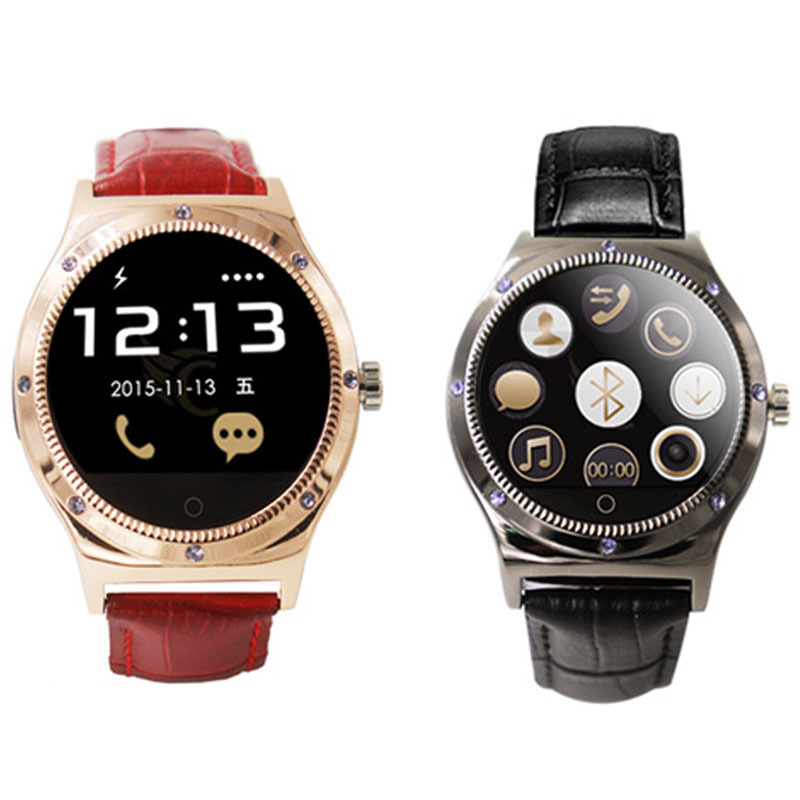 Women Smart Watch 2017 New Arrival The New Round R11S Bluetooth Watch Ladies Watches Leather HR