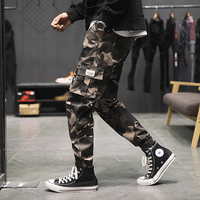 Workwear pants, men's and Japanese trousers, fashion pants, loose camouflage, multi pocket trousers, flannel and thick casual tr