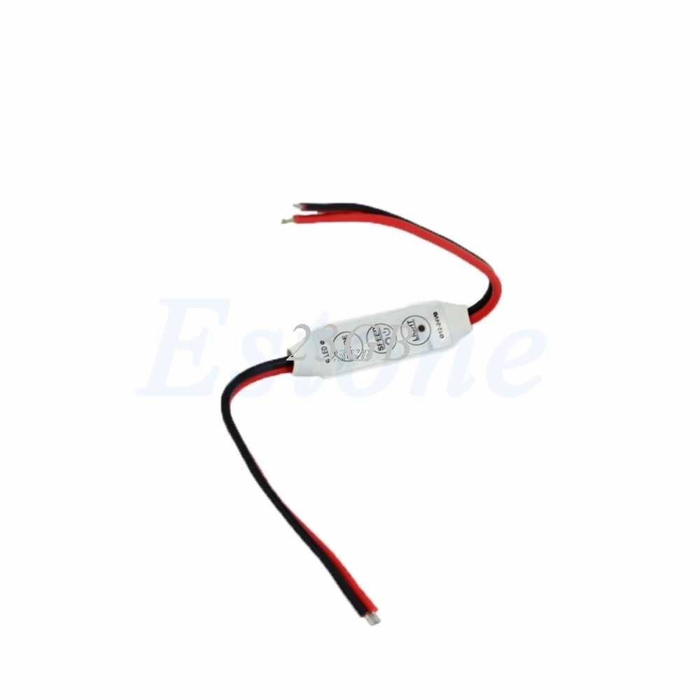 DC12V 3 Chaves Mini Controlador Dimmer Para Solteiro Cor 5050 3528 Led Light Strip T20