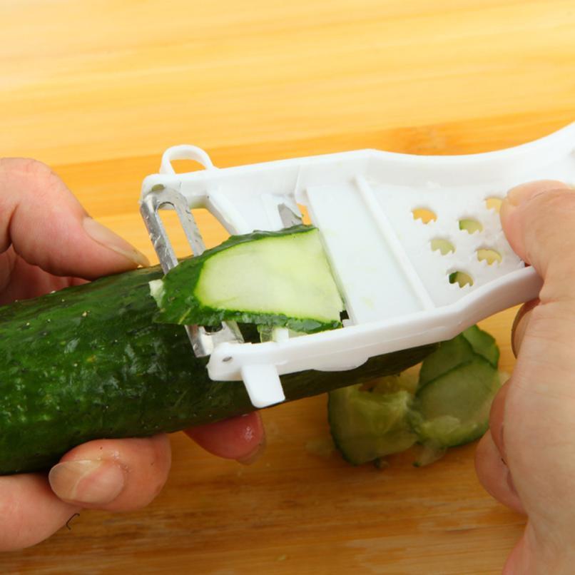 Stainless Steel Fruit Vegetable Peeler Parer Cutter Kitchen Tool Creative Multifunction Hot Selling 2JU23