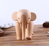 Фигурка Книги по искусству украшения дома Симпатичные деревянные слон Забавные куклы, игрушки для детей подарки на день рождения творчески