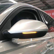แบบไดนามิกกระจกBlinkerสำหรับAudi A6 C7 C7.5 4G S6ไฟเลี้ยวLED 2013 2014 2015 2016 2017 2018 RS6 Slineชิ้นส่วนปรับแต่ง