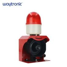 Small Audible and Visual Alarm Device Waterproof Warning Beacon Light Custom Sound Siren DC12V 24V