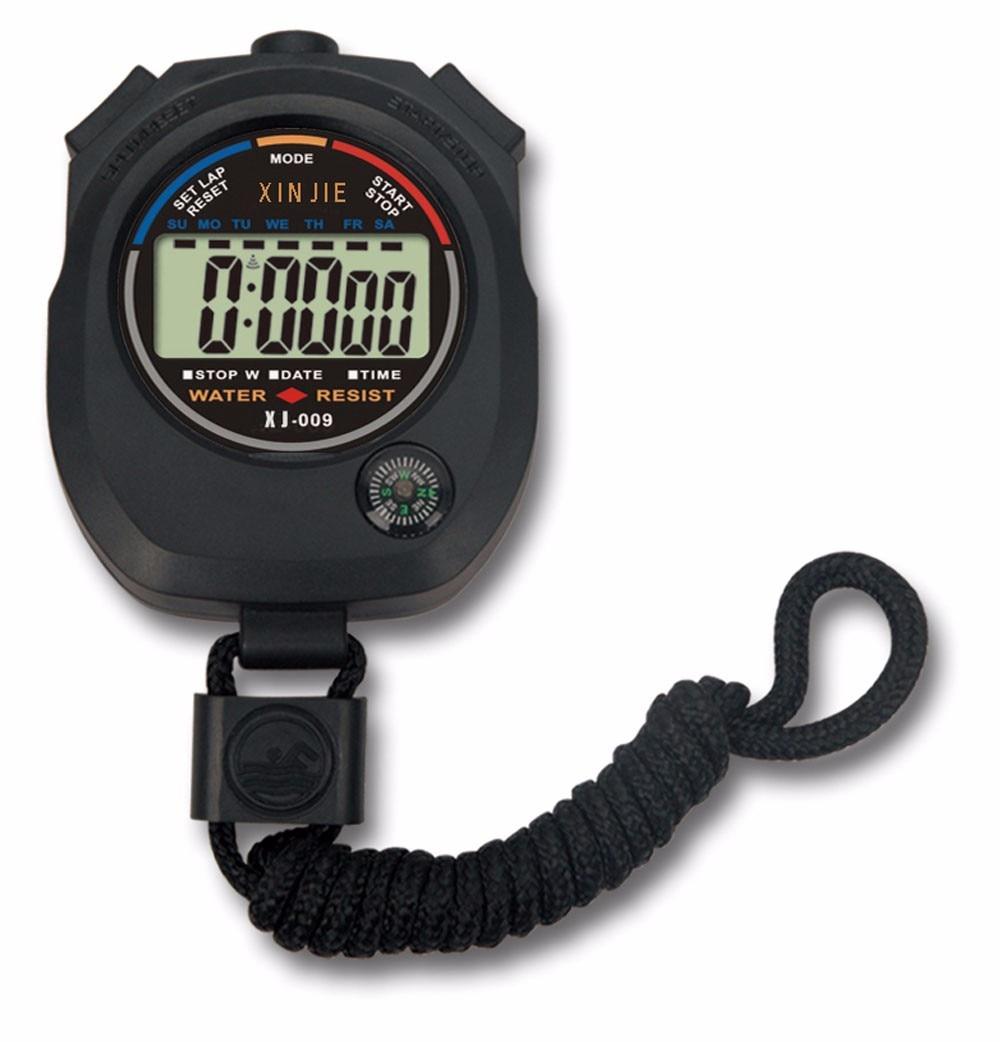 Herrenuhren FleißIg Wasserdichte Digital Lcd Stoppuhr Chronograph Timer Zähler Sport Alarm GroßEs Sortiment Digitale Uhren