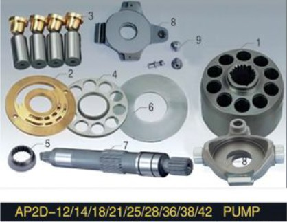 UCHIDA series Piston Pump Parts AP2D28 plunger pump cylinder block