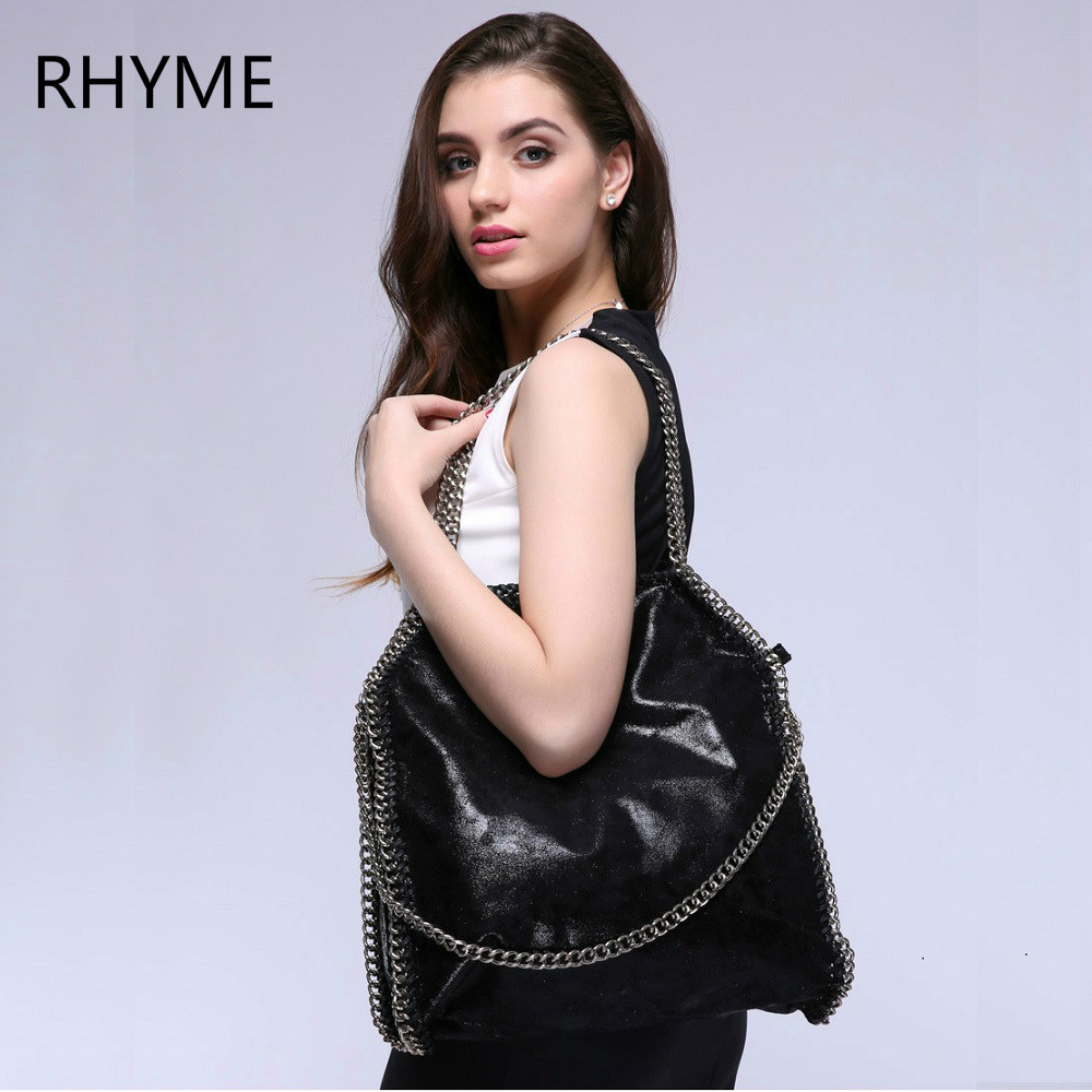 Rhyme Women Bag Shoulder Bag Falabellas Tasche with 3 Chains Evening Bolso Socialite Tote Fashion Sac A Main Lady Torba women crossbody bags falabellas leather shoulder bag stella 3 silver chains bolso socialite tote fashion sac a main lady torba