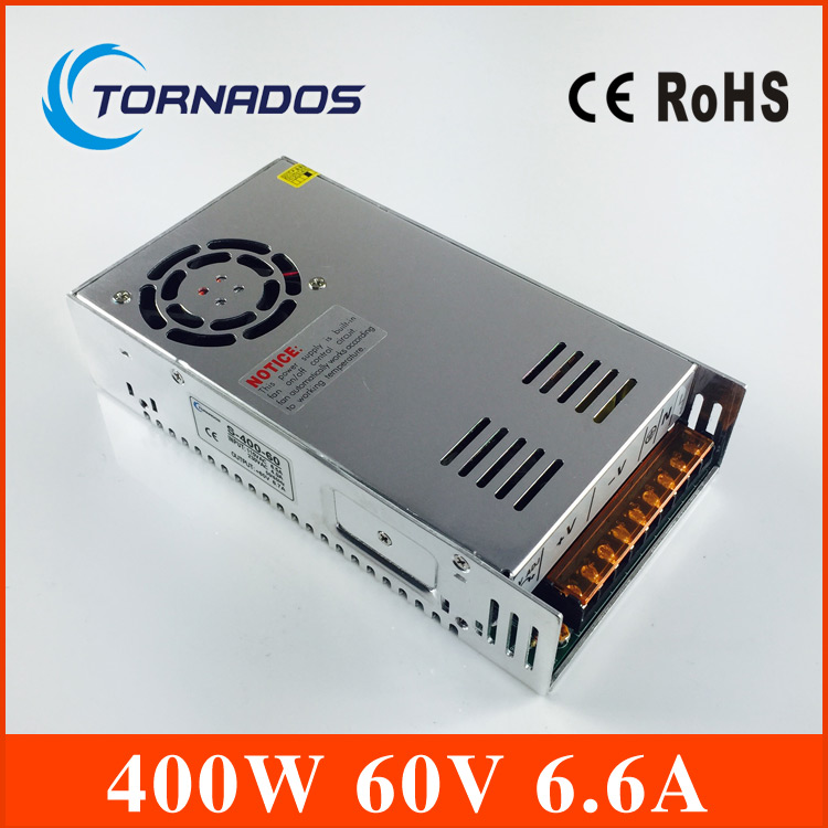 S-400-60 Metal case Cooling Fan 400W DC 60V 6.6A 3D printer switching power supply