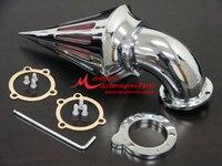 Хром заготовки Алюминий Спайк Воздухоочиститель воздушного фильтра Комплект для Harley Davidson S & S CV carb Sportster Карбюраторы пользовательские