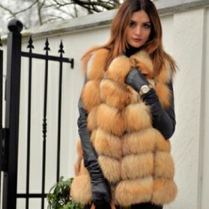 Image 3 - Delle donne di nuovo red fox gilet di pelliccia naturale pelliccia di volpe reale pelliccia di volpe giubbotto corto di moda casual caldo autunno e inverno stile Europeo strada