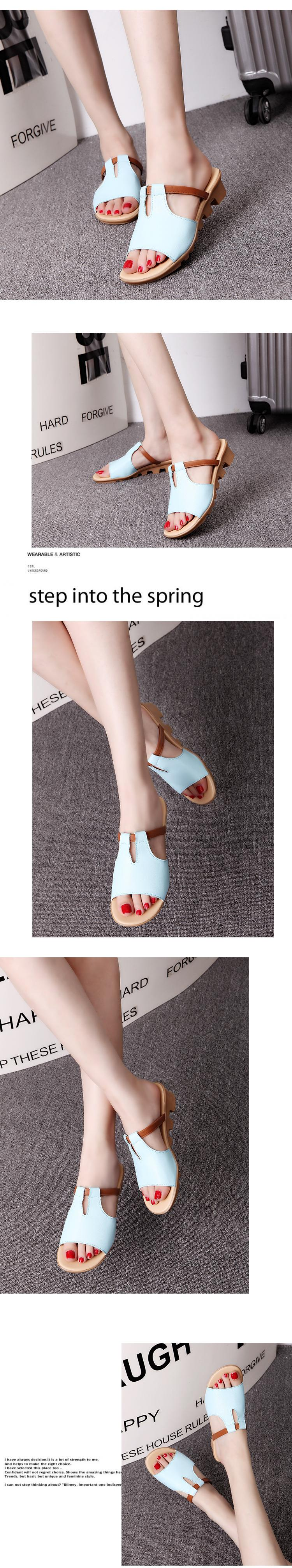New Summer Slipper Women Slippers Slides Women Sandals Slippers Word Hollow out Women Single Sandals Non-slip Fashion B1210 14