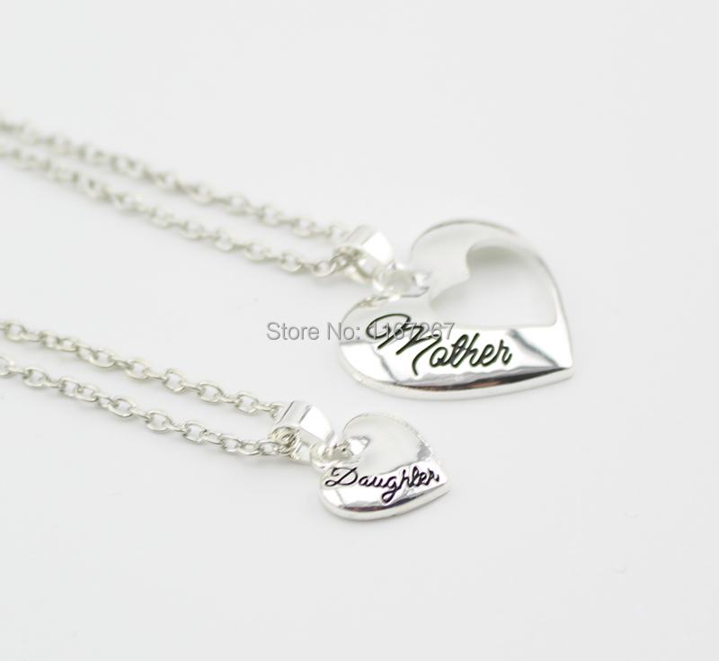 2015 new mother day gifts jewelry mother daughter heart cutout