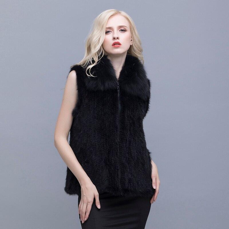 Skutečný norek fox límec šaty ztluštění zvýšení L-5XL multi-kód volitelně fox kožešiny norek vlněné oblečení zimní dámská bunda